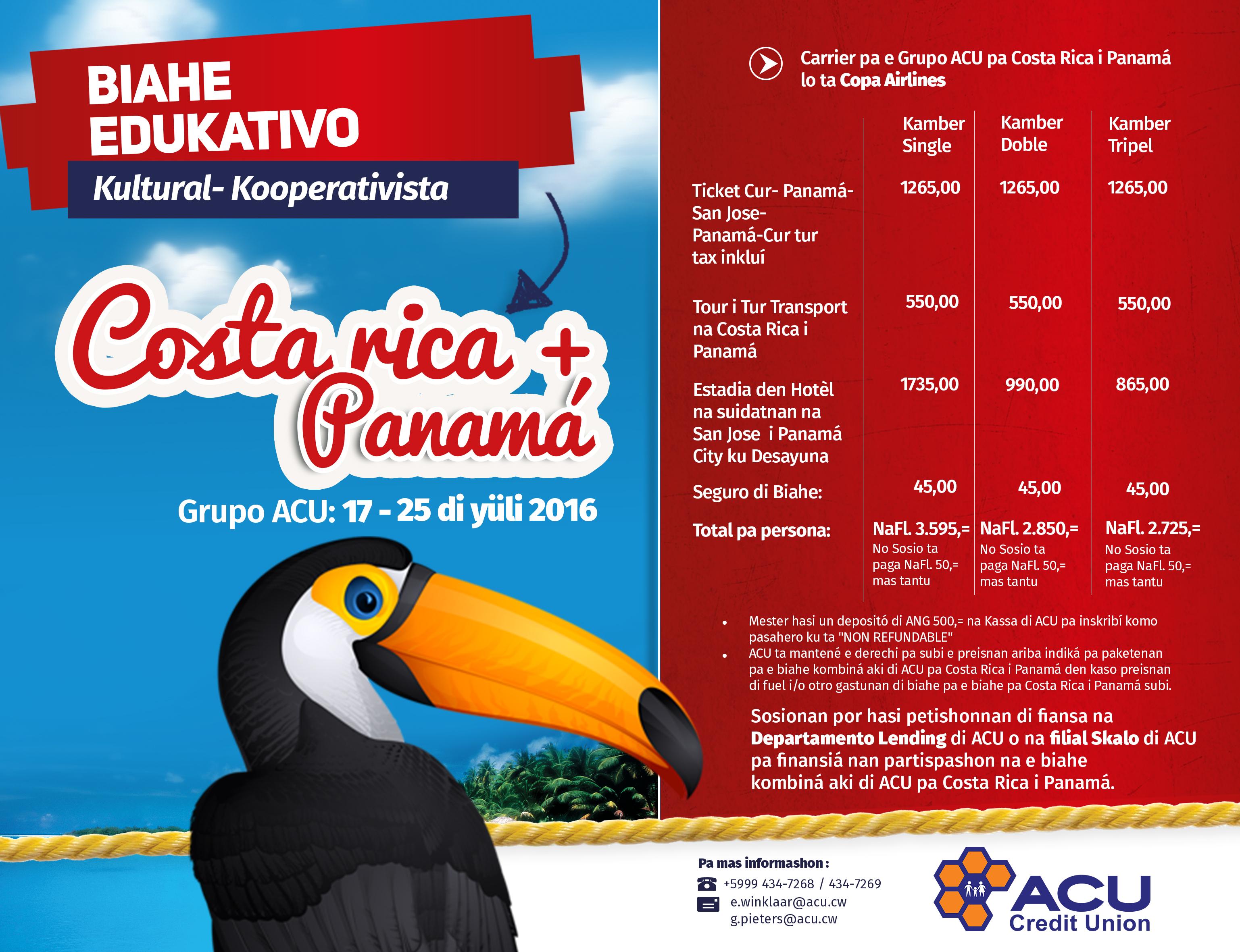Biahe pa Costa Rica PRINKLAAR